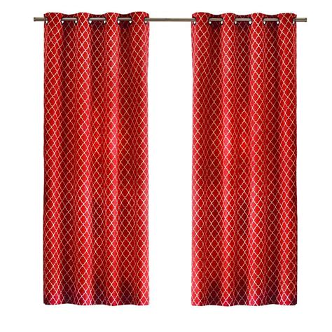 Curtain Grommet Kit Home Depot by Home Decorators Collection Chili Ogee Grommet Curtain