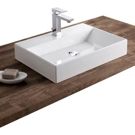 vasque de cuisine vasque à poser résine de synthèse l 50 x p 36 cm blanc