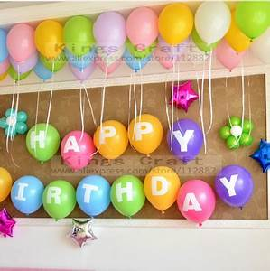 12 inch alphabet happy birthday latex balloons birthday With 12 inch letter balloons