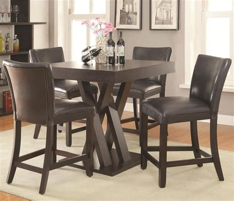 freedom counter height table 4 chair set