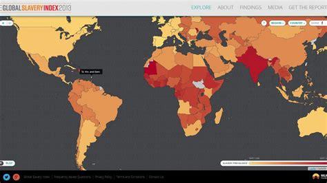 une carte du monde interactive fait l 233 tat des lieux de l esclavage moderne
