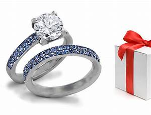designer colored gemstones engagement wedding rings With colored diamond wedding ring sets