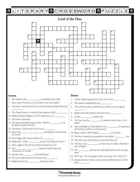 Free Crossword Puzzles - English Teacher's Free Library