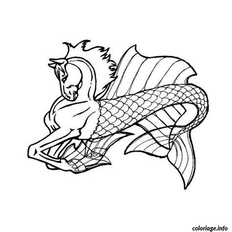 coloriage cheval de mer dessin