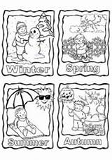Seasons Coloring Four Worksheets Printable Worksheet Pages Kindergarten Preschool Esl Activities English Clothing Vocabulary Colouring Season Sheets Weather Summer Chart sketch template