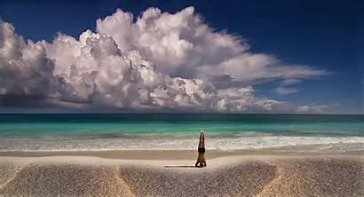 Yoga Meditation Nature Sea Landscape Mexico Clouds