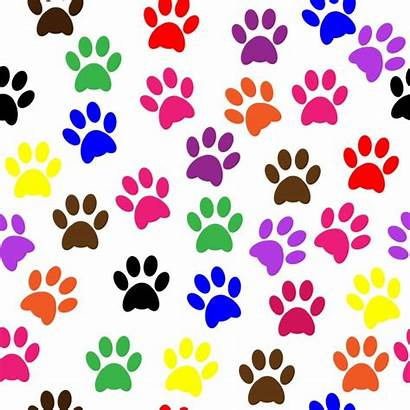 Paw Colorful Prints Cat Patrol Dog Clipart