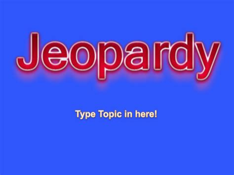 jeopardy powerpoint template   formtemplate
