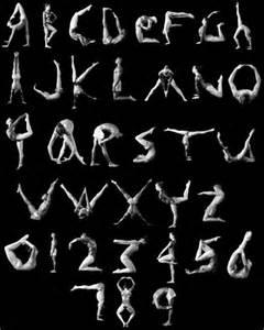 Gymnastics Human Alphabet
