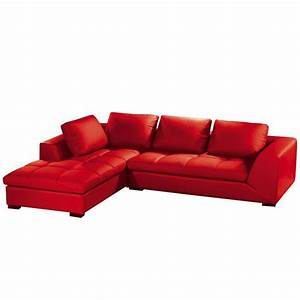canape d39angle family rouge achat vente canape sofa With canape cuir angle rouge
