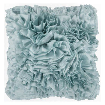 light blue throw pillows surya ruffles decorative pillow light blue walmart