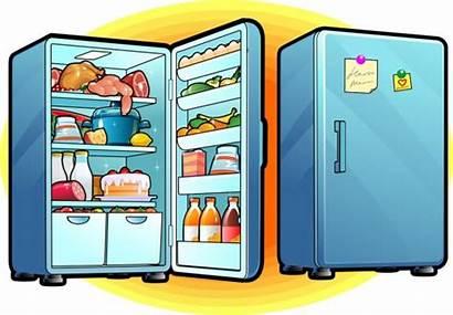 Refrigerator Open Abierto Refrigerador Closed Koelkast Nevera