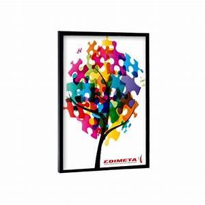 Cadre Photo 60x40 : cadres couleurs pour affiches 50 x 70 cm coloris noir bleu rouge alu anodis blanc dor ~ Teatrodelosmanantiales.com Idées de Décoration