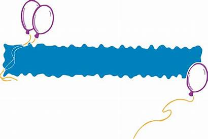 Banner Clipart Banners Party Flag Clip Celebrate