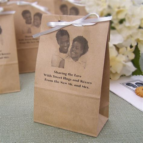 personalized photo paper party favor bags