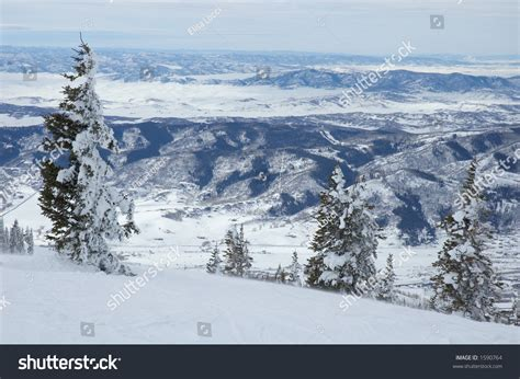 Steamboat Us by Mountains Steamboat Springs Colorado Usa Stock Photo
