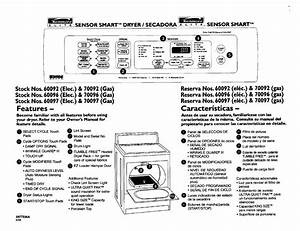 Kenmore Clothes Dryer 60097 User Guide