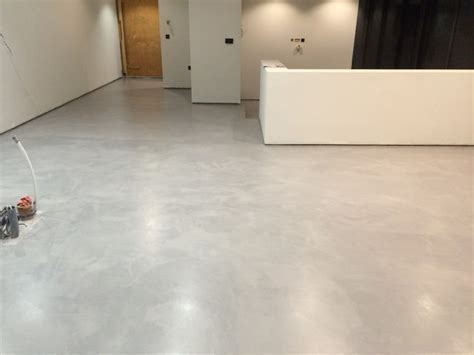 Polished Concrete Microcement Floor in Winchester