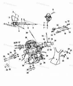 Polaris Atv 2002 Oem Parts Diagram For Engine  Mounting