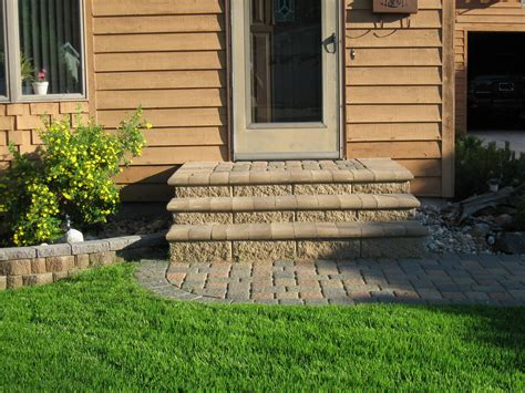 paver patio project cobble paver bullnose steps with walkway
