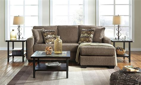tanacra tweed sofa chaise set  benchcraft furniturepick