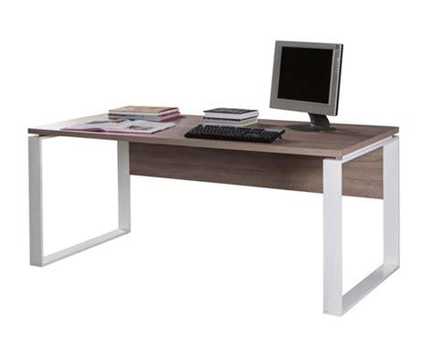 bureau basika bureau 170 ufficio chene sonoma fonce blanc