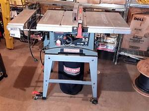 Sears Craftsman 10 Inch Table Saw 3hp