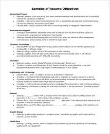 general resume exles sle resume objective exle 7 exles in pdf