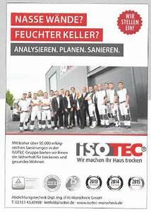 Nasse Wände Im Haus : lokalpresse isotec abdichtungstechnik dipl ing ~ Lizthompson.info Haus und Dekorationen