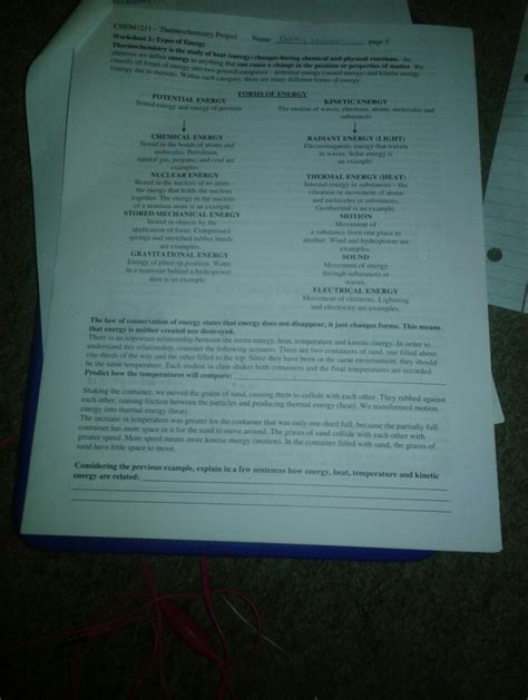 solved chem1211 thermochemistry project name l types of chegg