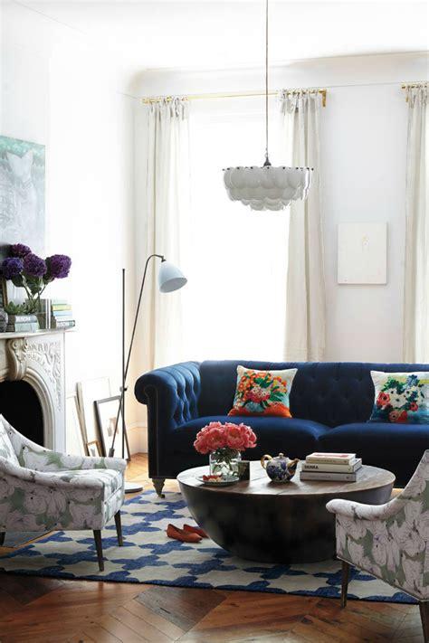 Navy Sofa Living Room by Interior Design Tips Blue Velvet Chesterfield Sofa
