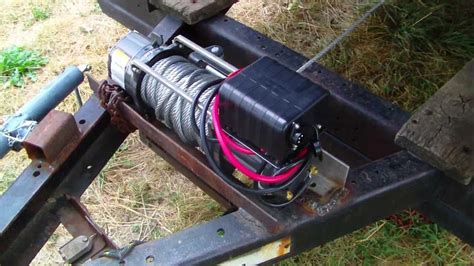 electric winch  derby trailer youtube