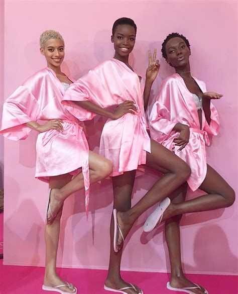 herieth paul sexy six black models walking victoria s secret this year