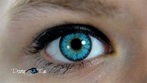 Blue Color Contact Lenses for brown eyes / Niebieskie ...