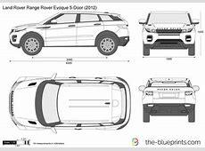 Land Rover Range Rover Evoque 5Door vector drawing