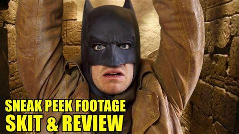 Batman V Superman Sneak Peek Skit & Review Youtube