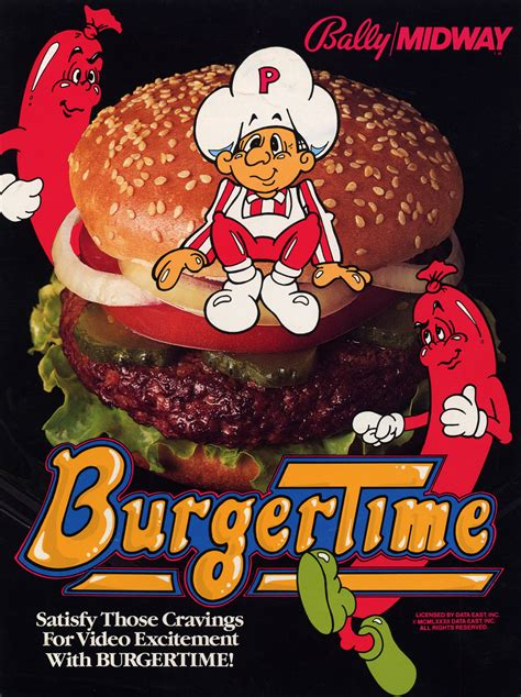 Burgertime Colecovision Intellivision Arcade Vhs Revival