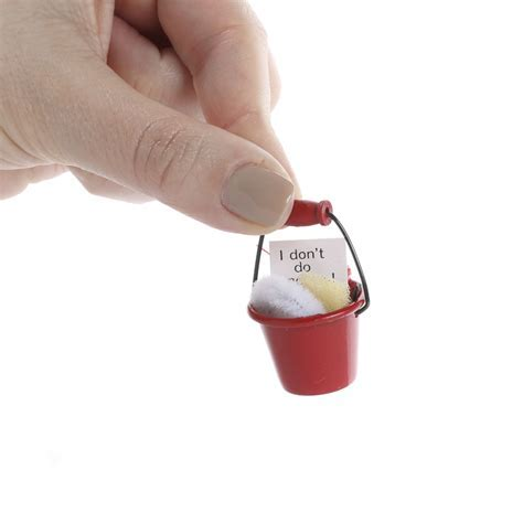 Dollhouse Miniature Cleaning Supplies Bucket   Kitchen