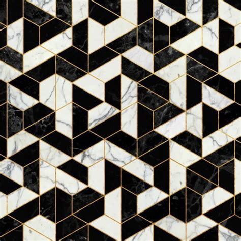 ideas for bathroom floors geometric black white and gold tiles