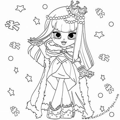Coloring Shopkins Pages Shoppies Dolls Shopkin Colouring