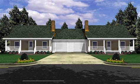 bungalow style multi family plan    bed  bath