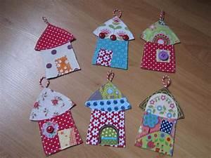 Tissu De Noel : d co de noel maisonnettes en tissu weihnachtsdeko ~ Preciouscoupons.com Idées de Décoration