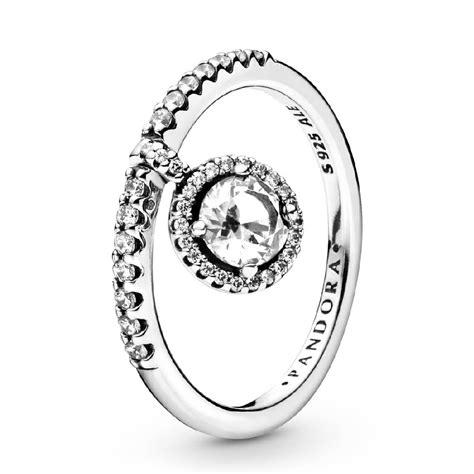 Pandora Dangling Round Sparkle CZ Ring - 198491C02 | Ben ...