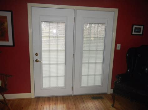A rental i visit annually has this, a good alternative (esp. Steel Entry Doors with Blinds Between The Glass Panes
