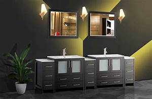 Vanity, Art, 96, U0026quot, Double, Sink, Bathroom, Vanity, Combo, Set