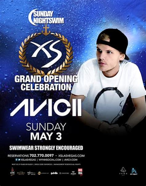 Xs Nightswim Dress Code Nightswim W Avicii At Xs Nightclub On Sunday May 3