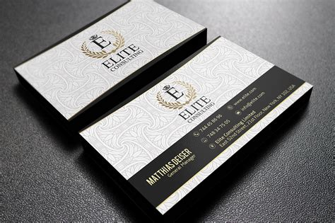 gold  white business card business card templates