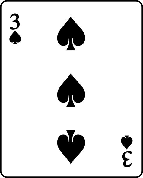 spades card file playing card spade 3 svg wikimedia commons