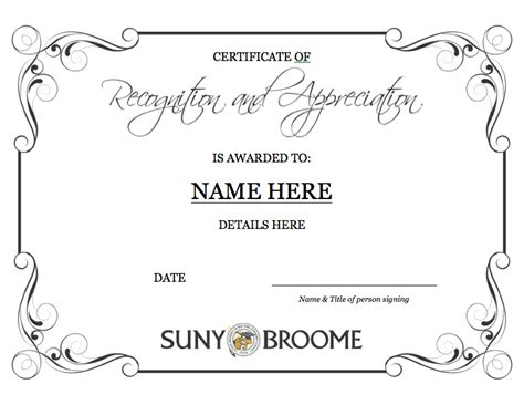 Certificate Of Recognition 6 Free Templates In Pdf Word 6 Printable Certificates Certificate Templates