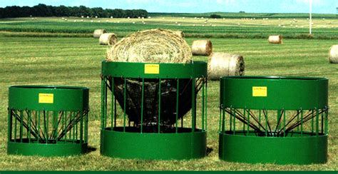 Round Bale Feeders For Cattle And Horses